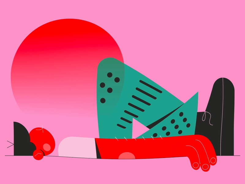 Enjoy Your Weekend and Eat Some Watermelons character 2d vector graphic art illustration design ui