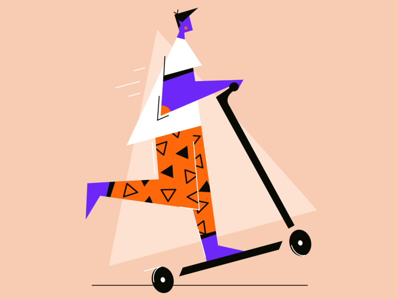 Cruisin' 2d character vector graphic illustration ui design