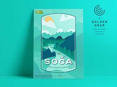 HAVE A TASTE OF SLOVENIA #2 young drummers vector typography slovenia poster illustration graphic design graphic golden drum design culture