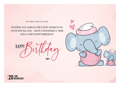 Birthday card illustration art mobile typography vector shopping ux mobileapp ecommerce poster design