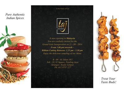 Taj Hotel - Invite