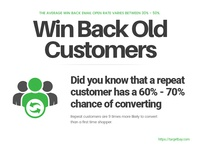 Win back old customers