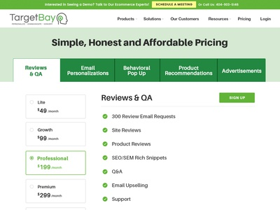Pricing Page - Layout