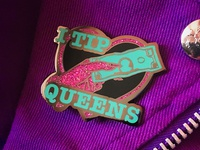 I Tip Queens Enamel Pin (March 2018)