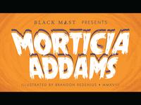 Morticia Addams Title Card