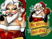 Santa Claus the Bearded Queen Illustration