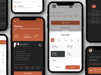 Grocery Shopping App - 2.0 dark mode ionic mobile ui pwa mobile app design angular