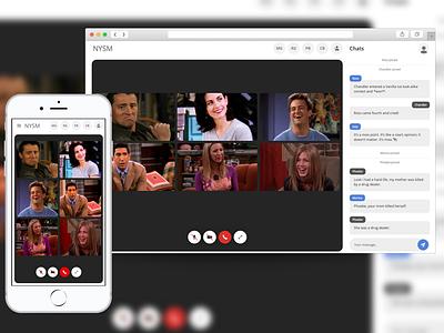 NYSM - Group Videocall App webapp videochat nodejs