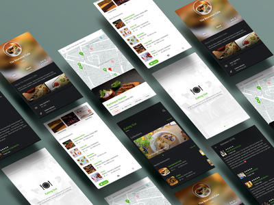 Eating Out - Restaurant App mobile app design mobile ui design app pwa angular ionic