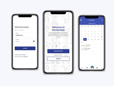 Doctor's App mobile ui mobile app design angular ionic