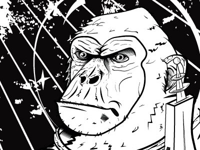 Devolve Monkey Poster illustration design graphicdesign drawing poster