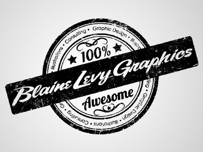 Blaine Levy Graphics Seal branding logo typography illustration design graphicdesign