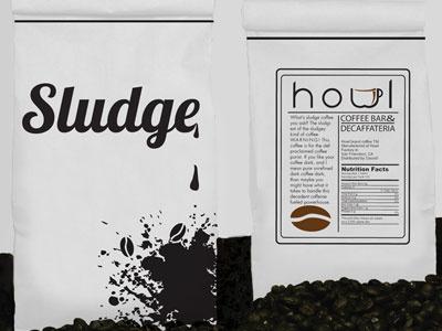 Sludge Coffee branding logo typography illustration design graphicdesign package