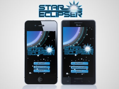 Star Eclipser game app ui userexperience interface graphicdesign illustration