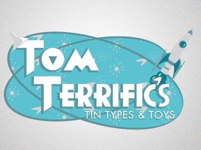 Tom Terrifics Logo logo logotype illustration art drawing design graphic graphic design