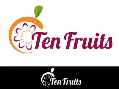 Ten Fruit logo design logotype illustration graphic