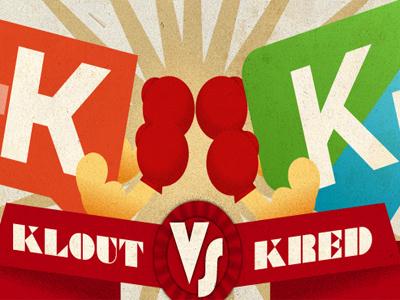 Klout Vs Kred Blog Photo blog unation klout kred graphic art design