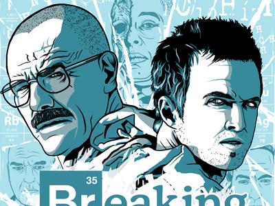Breaking Bad Screen Print Freebies graphic design graphicdesign breaking bad walt jesse screen print art illustration poster wallpaper free desktop mono fan