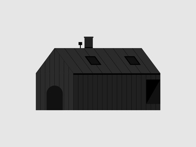 Norwegian Dream House forest explore animal black norway casa home nature illustration house illustration house