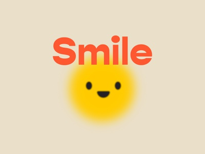 Smile More pastel sun smile typography typo gradient character illustration