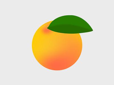 Orange gradient flat 2d immunity immune healthy fruits orange