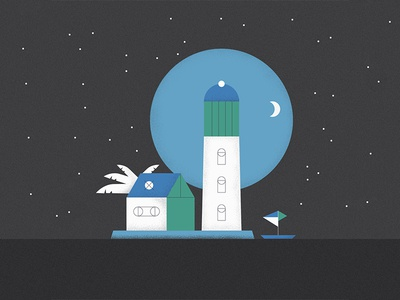 Good Night Palma De Mallorca spain palm plant moon dark night lighthouse nature