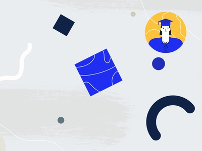 University World berlin illustartor 2d character vector istruzione scuola università student school illustration texture learning university