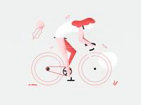 Cyclist Lady