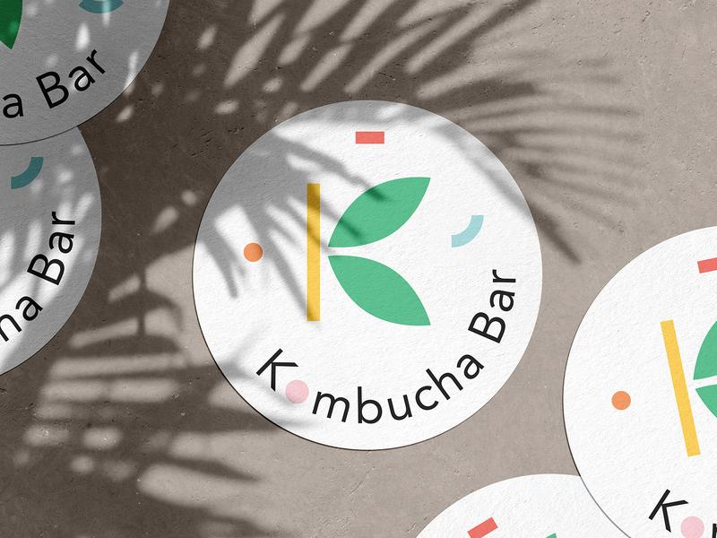 Kombucha Bar adobe healthy illustration mockup kombucha identity branding design nature berlin logo