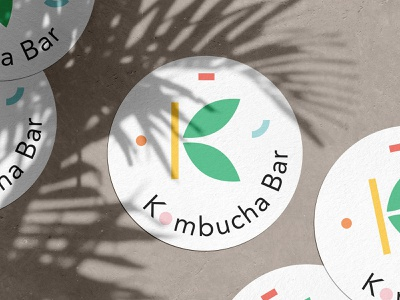 Kombucha Bar adobe healthy illustration mockup kombucha identity branding design nature berlin logo