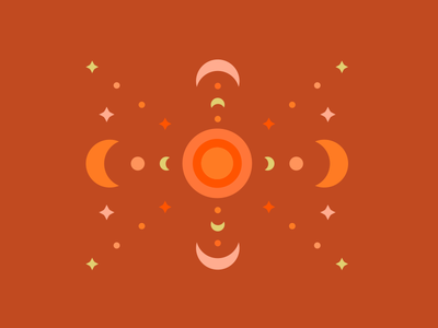 summer in space vector space shapes illustration geometric pattern