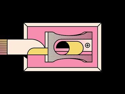 Sharpener finger nails sharpener design simple shape geometric colour illustration