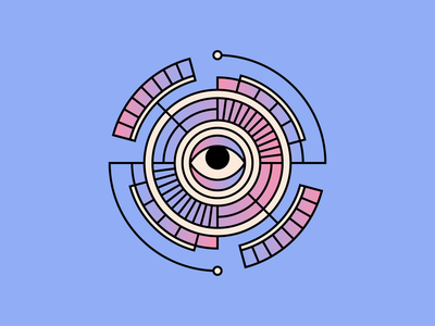 🙄 animation eyeroll eye design simple shape geometric colour illustration