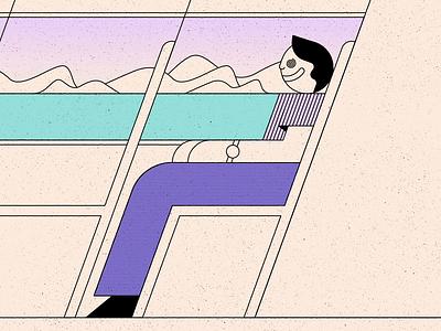 Choo texture travel commute person face train design simple shape geometric colour illustration