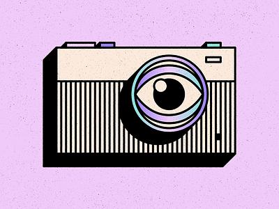Camera animation camera eye texture design simple shape geometric colour illustration