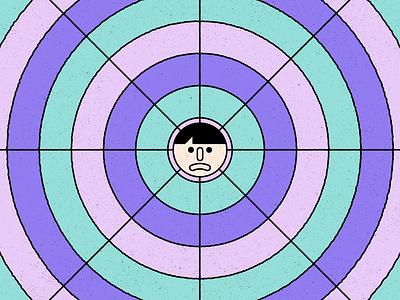 Bad Trip trip face texture design simple shape geometric colour illustration