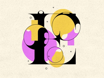 E letter bubbles bubble typography typogaphy type 36days 36daysoftype