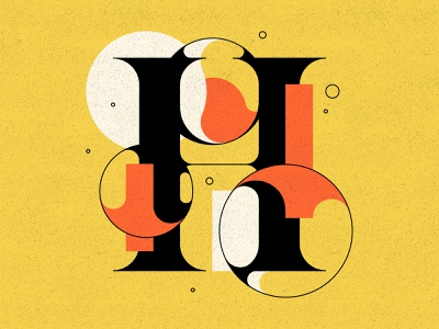 H bubbles bubble type typography type letters h 36days 36daysoftype