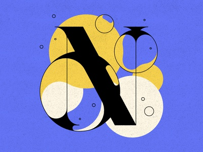 N letters bubble type bubbles typography type 36daysoftype 36days