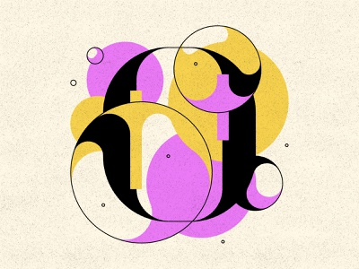 O bubble type bubble typography type letters 36daysoftype 36days