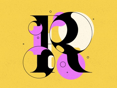 R bubbles bubble type typography type letters 36daysoftype 36days illustration