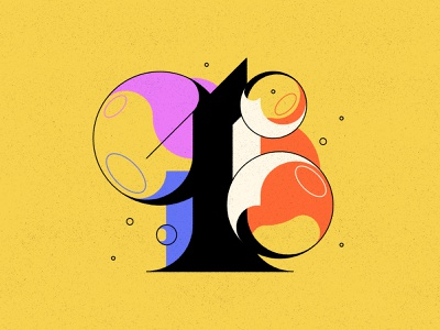 1 bubble type bubbles typography type numbers 36daysoftype 36days