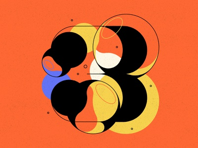 3 3 bubble type bubbles numbers type typography 36daysoftype 36days
