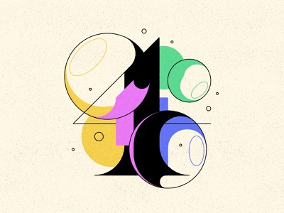 4 bubble type bubbles typography type numbers 36daysoftype 36days