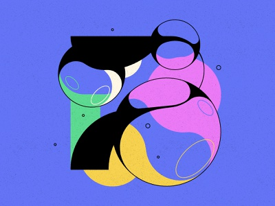 7 bubble type bubbles typography type numbers 36daysoftype 36days