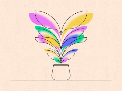 Another Plant geometric texture colour glass blur flower plant illustration