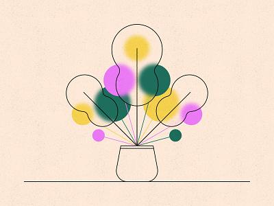 Plant 3 texture geometric plants glass flower plant illustration