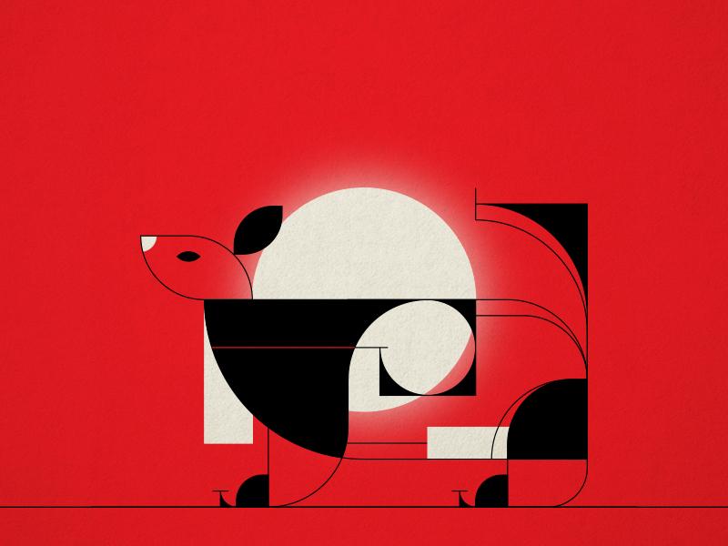 Animal 2 design vector form simple shape geometric colour illustration animal