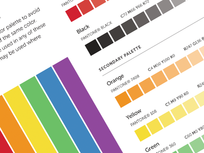Brand Colors brand branding color colour palette styleguide