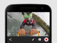 Livestream Android Broadcasting UI